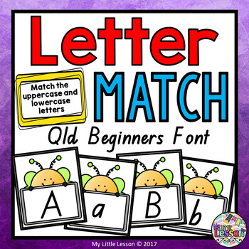 Lowercase and Uppercase Letter Match QLD Beginners Font