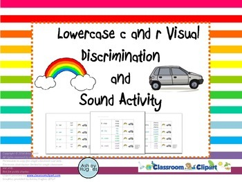 Lowercase c and r Visual Discrimination and Sound Activity