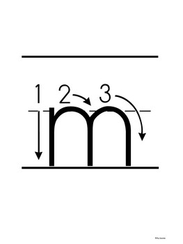 Lowercase Handwriting Directional Cards for Letter Formation or Handwriting
