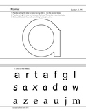 Lowercase letter a