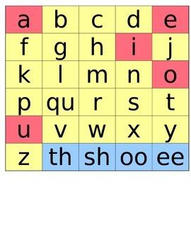 Lowercase letter manipulatives
