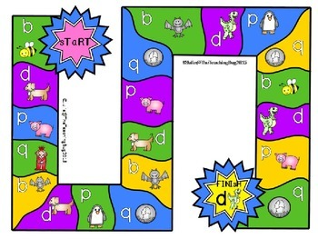 Lowercase letters b,d,p,and q game