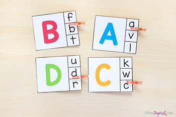 Lowercase to Uppercase Clip Cards
