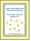 Lowercase to Uppercase Letter Matching (K-T) - File Folder