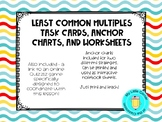Lowest Common Denominator Task Cards, Anchor Chart, and Practice Sheet