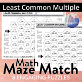 Lowest Common Multiple (MATH MAZE MATCH)