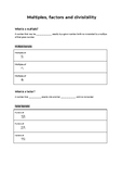 Lowest Common Multiple and Highest Common Factor worksheet