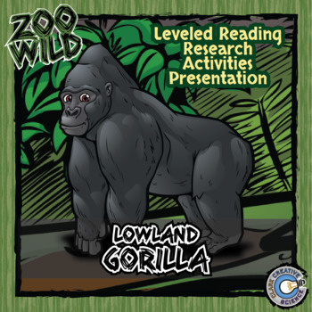 Lowland Gorilla -- 10 Resources -- Coloring Pages, Reading & Activities