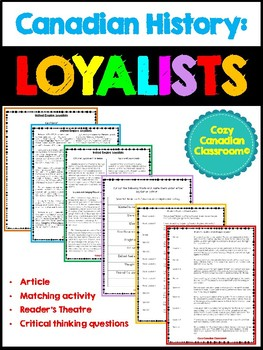 Loyalists Activity Bundle