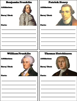 Loyalists or Patriots Activity: Interactive Notebook Foldable
