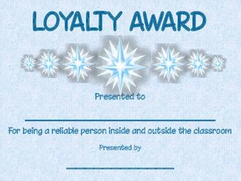 Loyalty Award