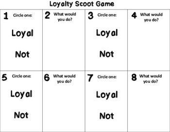 Loyalty Scoot Game