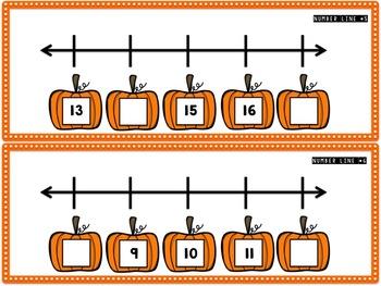 Les Citrouilles Math BUNDLE - nombres à 20 / Pumpkin Math Numbers to 20 {FRENCH}