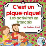 L'été:  Picnic Themed Activities for Summer in French