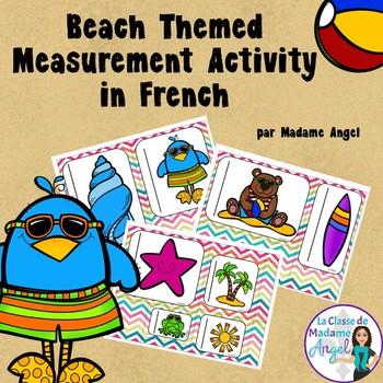 L'été:  Summer Measurement Center in French using non-standard units