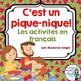 L'été:  Summer Themed Activity Bundle in French