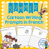 L'été:  Summer Themed Cartoon Writing Prompts in French