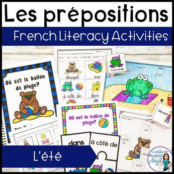 L'été:  Summer Themed Preposition Mini-Unit in French