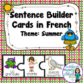 L'été:  Summer Themed Silly Sentence Builder Cards in French