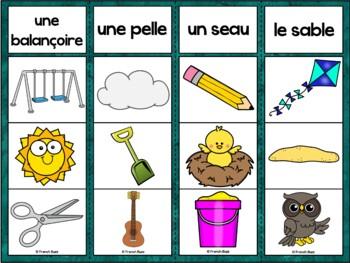 French Summer (été) - jeu d'association - images