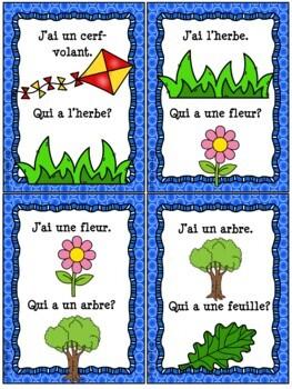 "French Summer (été) - jeu ""j'ai... qui a...?"" game"