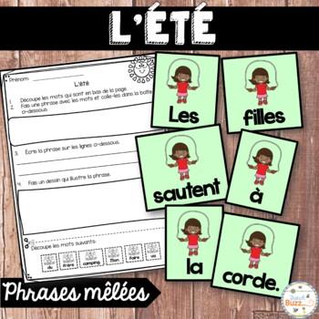 French Summer (été) - phrases mêlées / Scrambled sentences