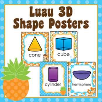 Luau 3D Shape Posters