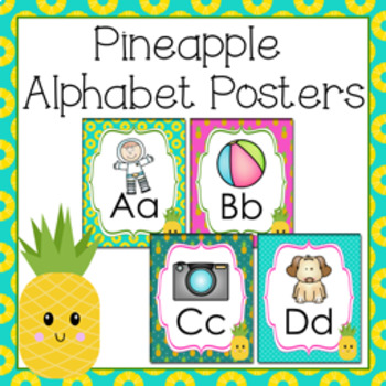 Pineapple Alphabet Posters A - Z