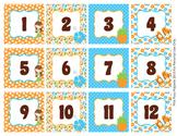 Luau Classroom Decor Monthly Calendar Numbers