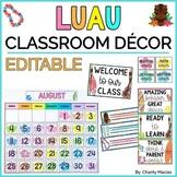 Luau Classroom Theme Decor EDITABLE