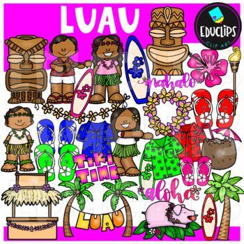 Luau Clip Art {Educlips Clipart}