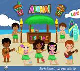 Luau Clipart, Hawaii Clipart, Hula Girl ClipArt , Aloha Cl