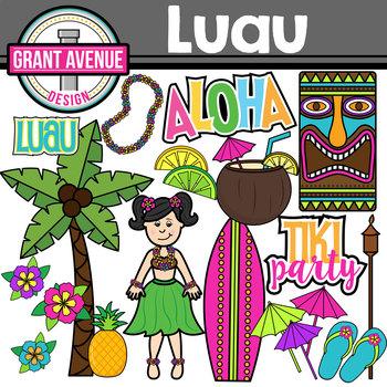 Luau Clipart - Hawaiian Clipart