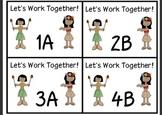 Luau Cooperative Learning Desk tags