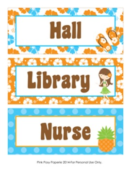 Luau Hall Passes