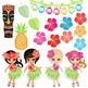 Luau / Hawaiian Clip Art, Tiki / Hula Girl Clipart Graphic Art