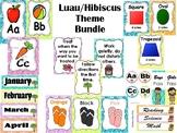 Luau Hibiscus Theme Bundle