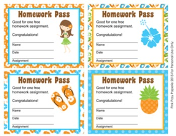 Luau Homework Passes