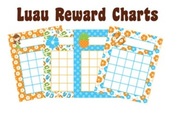 Luau Incentive Reward Charts - 4 Different Designs