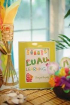 Classroom Decor Luau Learning Inspirational Print