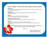 Luau Literacy Centers