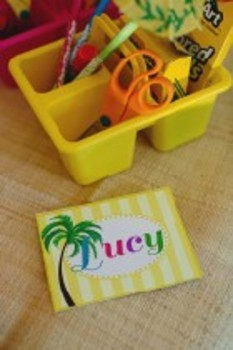 Classroom Decor Luau Multipurpose Labels Editable