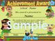 Luau PArty Achievement award English / Spanish version