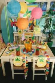 Classroom Decor Luau Pineapple Chair/Door Signs