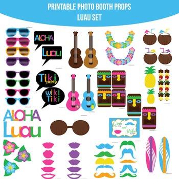 Luau Printable Photo Booth Prop Set
