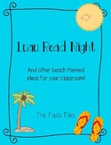 Luau Read Night and Other Beach Themed Activities