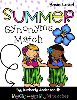 Luau / Summertime: Synonyms Match Center (Basic)