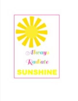 Classroom Decor Luau Sunshine Inspirational Print