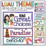 Luau Theme Behavior Clip Chart