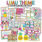 Luau Theme Classroom Decor Pack